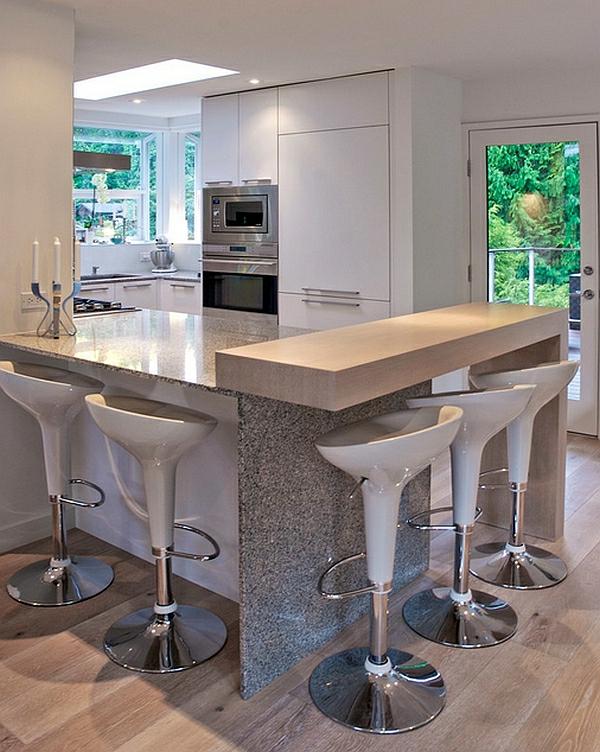 Küche Tisch Barhocker Esszimmer Stuhl In Microfaser Taupe 2er