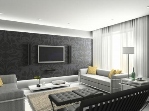 design fototapete wohnzimmer schwarz weiss fototapete wohnzimmer ... - Fototapete Wohnzimmer Braun