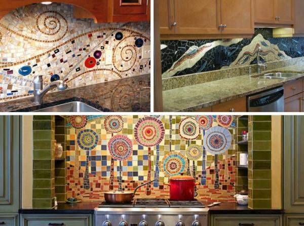 Einsatz von Mosaikfliesen im Interieur  coole Wandgestaltung