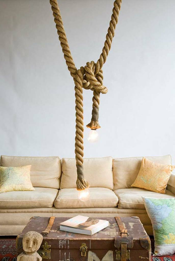 Hngelampen aus Seil von Atelier 688 entworfen