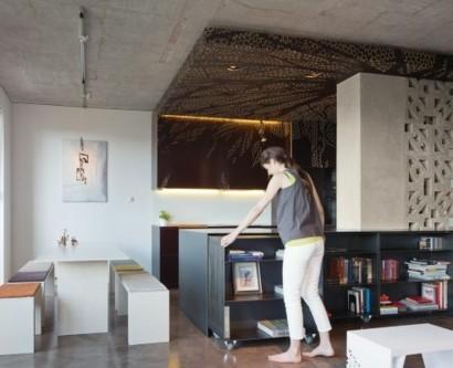 Platzsparende klappbare Mbel fr die kleine Wohnung