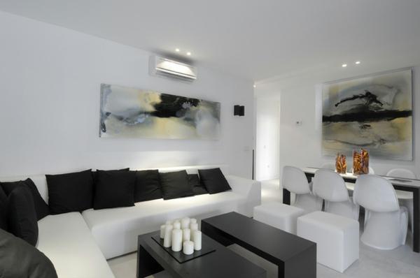 SchwarzWei Einrichtungsstil  18 schicke Ideen fr Ihr Interieur