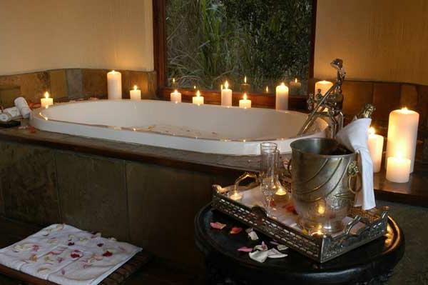 Badezimmer Deko zum Valentinstag