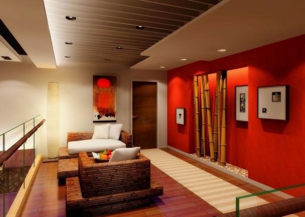 wohnzimmer dekoration rot grau stunning