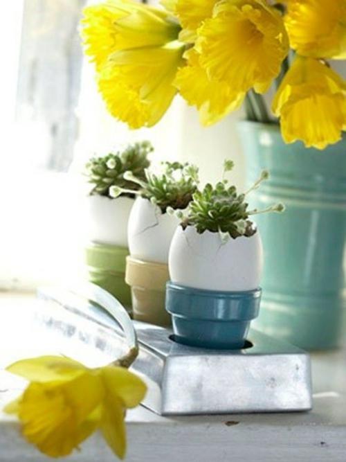 Osterdeko basteln  kreative Vasen und Blumentpfe aus