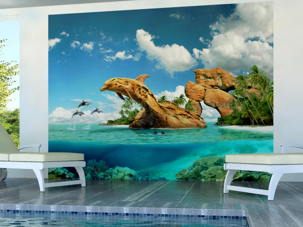 Wandgestaltung mit Fototapeten