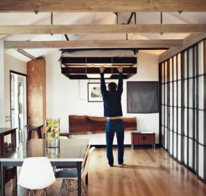 Platzsparend Bett Decke Hangen