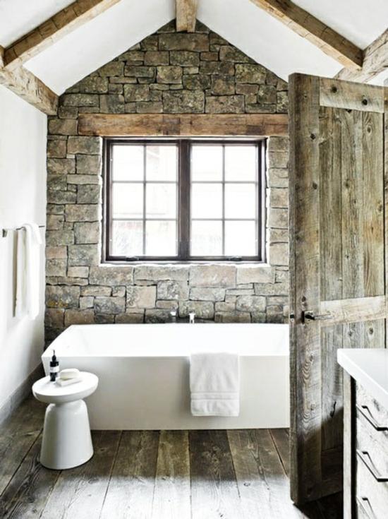 kamin badewanne landhausstil wohnideen fur badezimmer - boisholz - Badewanne Rustikal