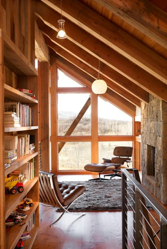 Alte Holzbalken und Steinwnde garantieren eine warme