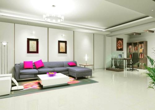 moderne deckengestaltung im wohnzimmer - vigcity.com - Deckengestaltung Wohnzimmer Modern