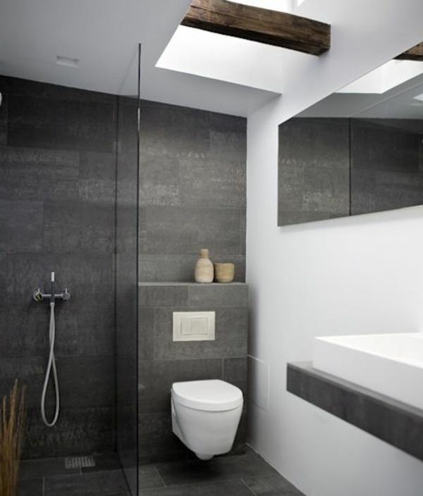 Badezimmer Ideen Bilder Grau Wei Farben