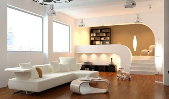 Beleuchtung Ideen Designer Mobel Holzboden Zwischengeschoss Wohnzimmer Gestalten