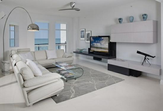 Modern Wohnzimmer Einrichten Fensterfront Design Idee Moebel Weiss, Modern  Dekoo