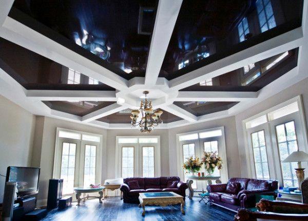 wohnzimmer decke gestalten - boisholz - Wohnzimmer Decken Design