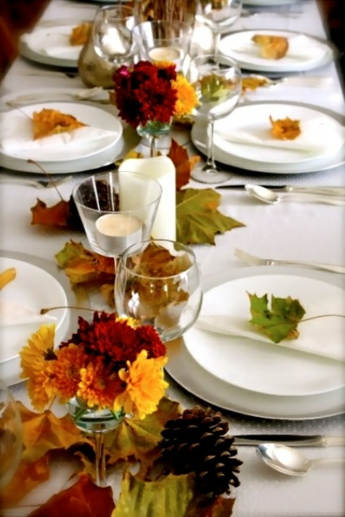 30 coole Ideen fr Tischdeko im Herbst  Herbstdeko basteln