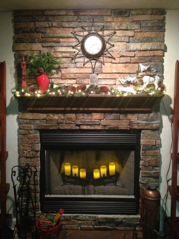 Tolle Ideen wie man den Kamin dekorieren kann