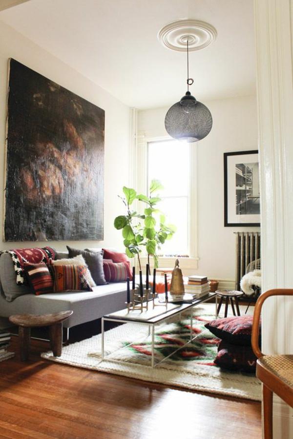 1001 Wandfarben Ideen fr eine dramatische WohnzimmerGestaltung