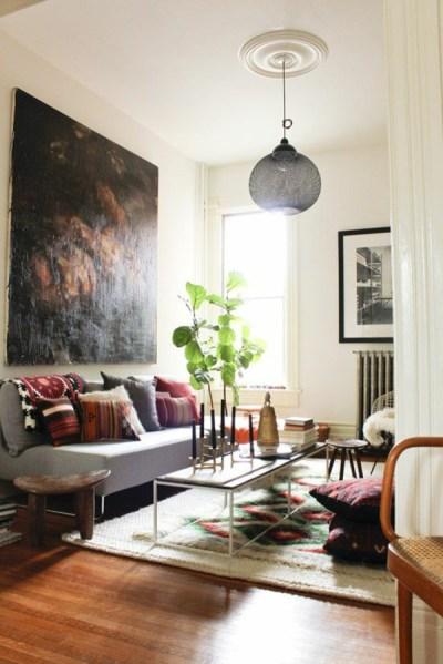 pinterest small living room 1001+ Wandfarben Ideen für eine dramatische Wohnzimmer-Gestaltung