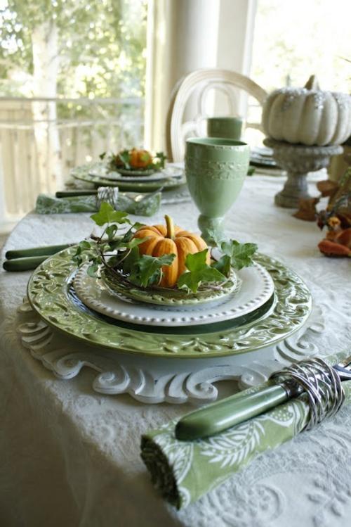 Tischdeko Herbst Modern Stunning Deko Esstisch Fr