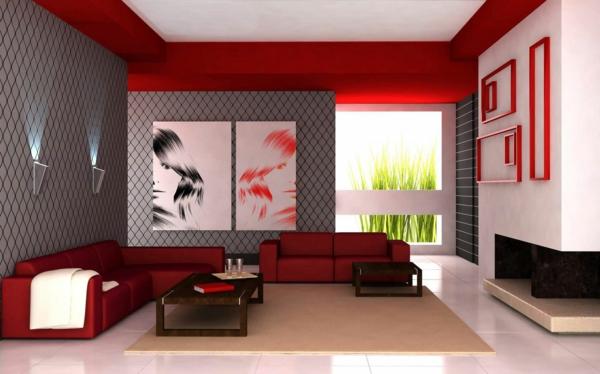 wandgestaltung wohnzimmer grau rot marikana info wohnzimmer design, Wohnzimmer design