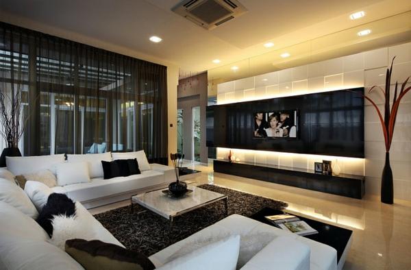 wohnzimmer gardinen design - boisholz - Moderne Gardinen Fur Wohnzimmer