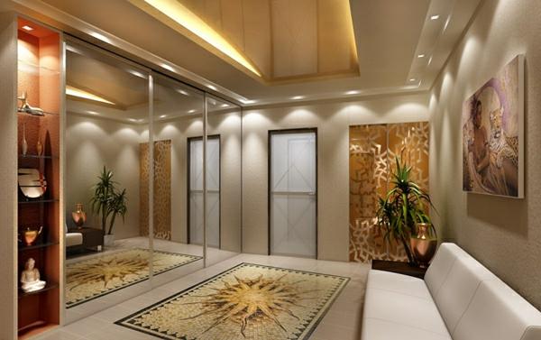 Deckengestaltung im Wohnzimmer  erstaunliche abgehngte Decke