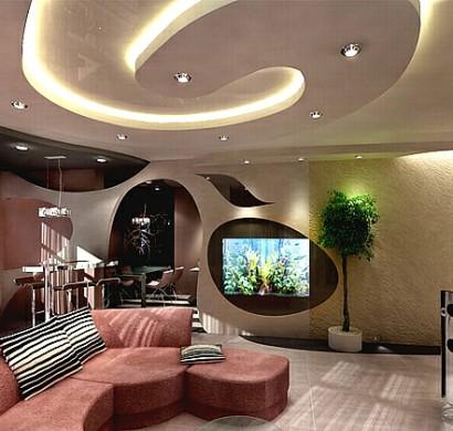 Deckengestaltung im Wohnzimmer  erstaunliche abgehngte
