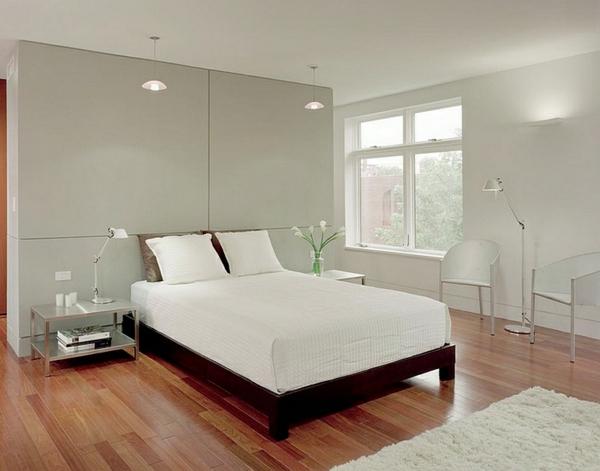 Minimalismus Schlafzimmer In Weis