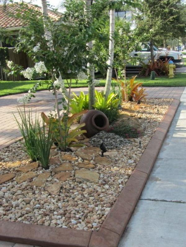 Vorgarten mit Kies gestalten  Bilder und Tipps fr Sie
