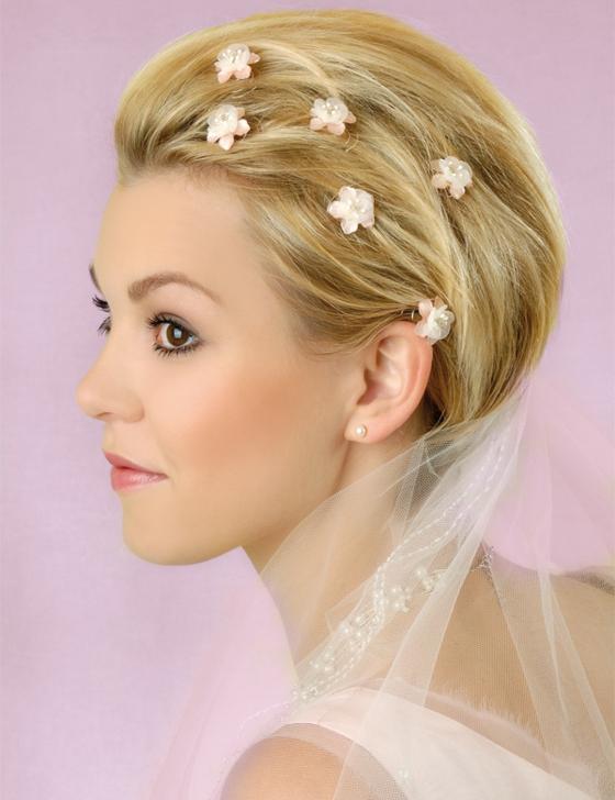 Brautfrisuren fr kurze Haare  Haarschnitt Ideen und Accessoires