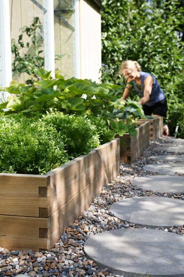 Gartengestaltung mit Kies und Steinen  25 Gartenideen fr Sie