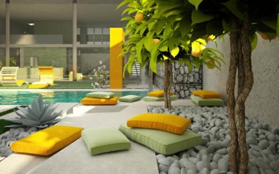 mediterrane garten mit pool – siddhimind, Garten und erstellen
