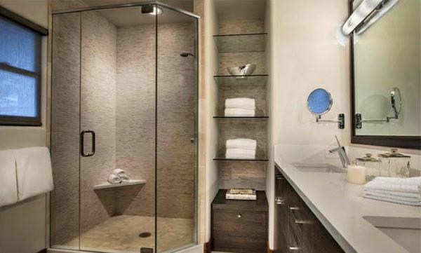 Badezimmer Regale aus Glas  Badezimmermbel mit Schick auswhlen