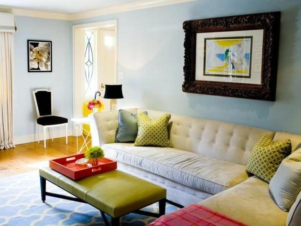 Farbbeispiele frs Wohnzimmer  krftige Farbgestaltung zu