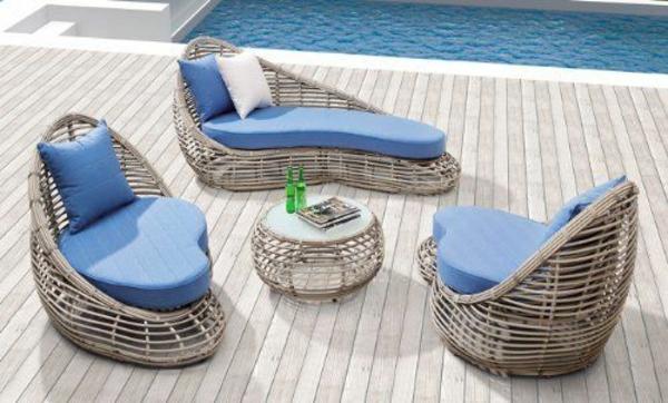 25 Outdoor Rattanmbel  Lounge Mbel aus Rattan und Polyrattan