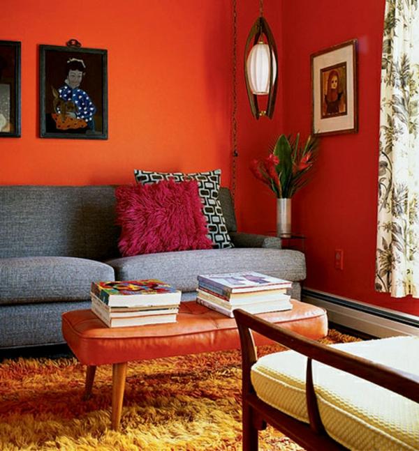 Wnde Streichen Farbideen Fr Orange Wandgestaltung