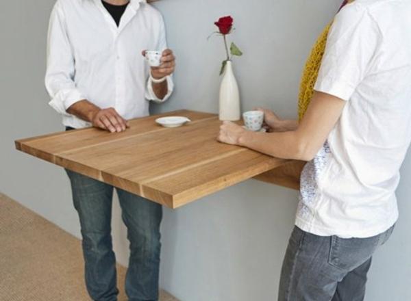 Wandklapptische  klappbare Holztische fr kleine Rume
