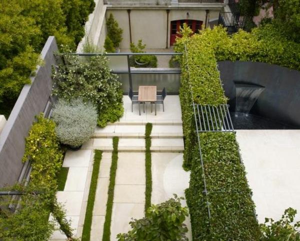 moderne gartengestaltung garten pflanzen kies betonmauer, Garten und erstellen
