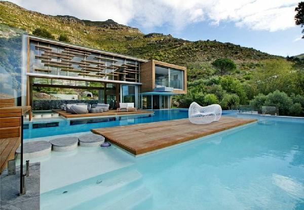 Bilder Pool Garden Schwimmbecken Ideen Holz Platten