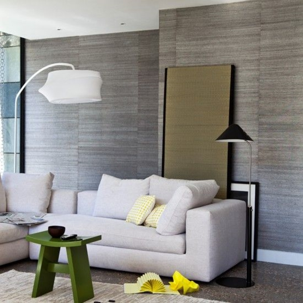 tapeten ideen wohnzimmer grau | sichtschutz - Tapeten Wohnzimmer Ideen 2014