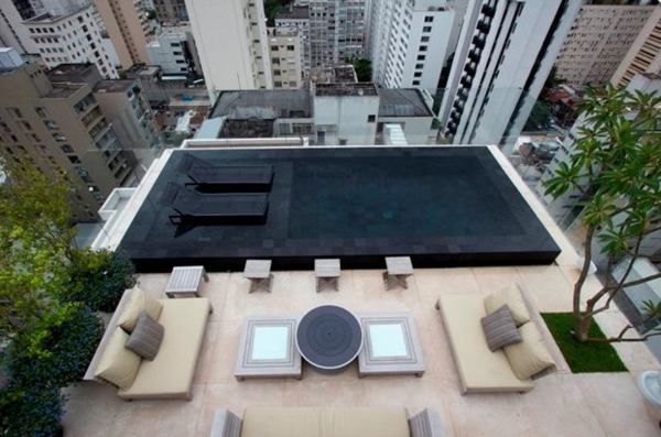Moderne Dachterrasse Unterhaltungsmoglichkeiten