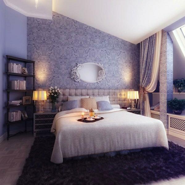 Schlafzimmer Ideen Wandgestaltung Lila | Möbelideen Wohnzimmer Ideen Wandgestaltung Lila