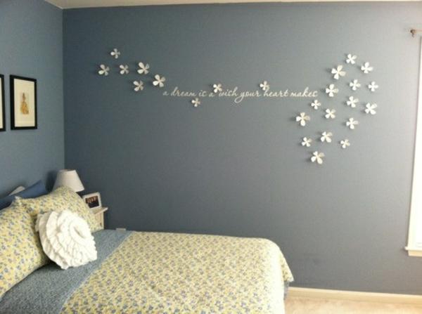 deko ideen schlafzimmer wand - boisholz - Schlafzimmer Wand