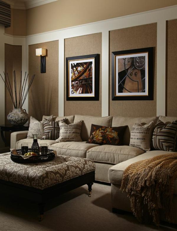 wohnzimmer blau braun modernes haus wohnzimmer braun beige ... - Wohnzimmer Modern Beige
