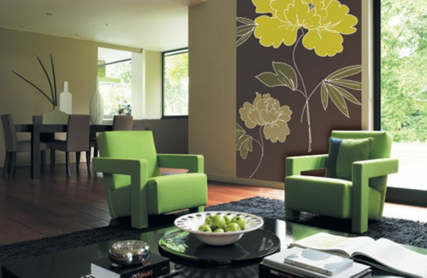 orange living room chair ideas grey and black sofa farbideen für wohnzimmer - lebhaftes ambiente in jedem zuhause