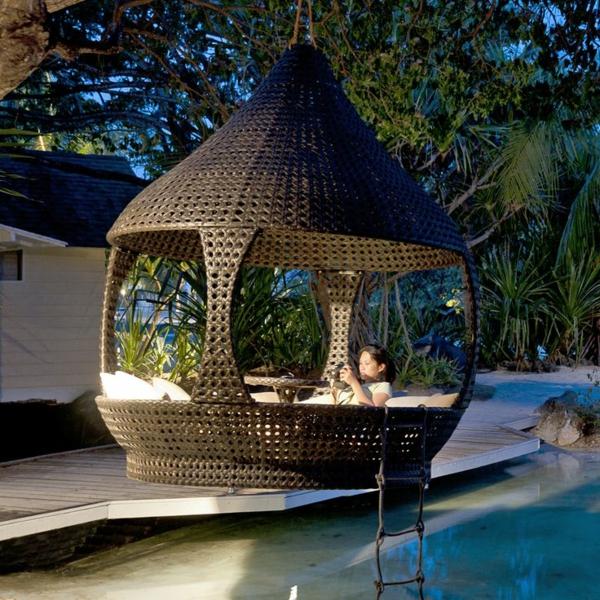 45 Outdoor Rattanmbel  modernes Gartenmbel Set und Lounge Sessel
