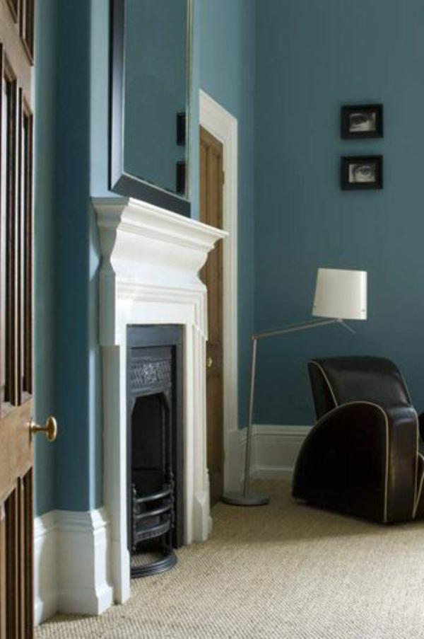 Taubenblaue Wandfarbe  wasserfarbene Inneneinrichtung  Fresh Ideen fr das Interieur