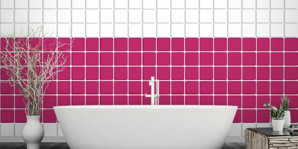 Badezimmer Fliesen berkleben  Fliesenaufkleber fr alte Fliesen