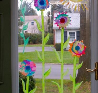 DIY Projekte  Frhlingsdeko basteln mit Kindern