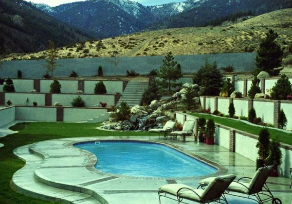 gartengestaltung hanglage mit steinen reimplica garten und bauen, Garten und Bauten